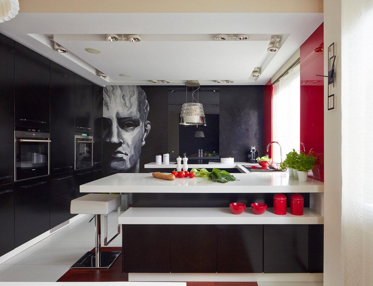 M09 Residence, WIDAWSCY STUDIO ARCHITEKTURY, яркий дизайн квартиры, интерьер в красном цвете, интерьер квартиры творческого человека, обзор квартиры