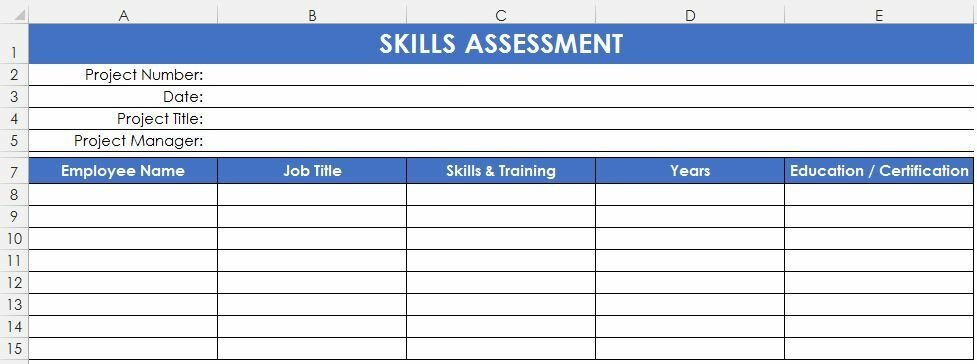 Как при старте нового прроекта оценить квалификацию, навыки, умения и опыт участников проекта