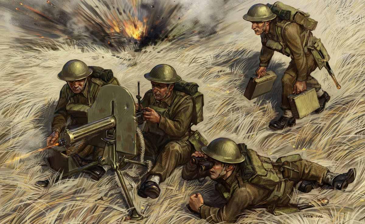 Британские пулеметчики