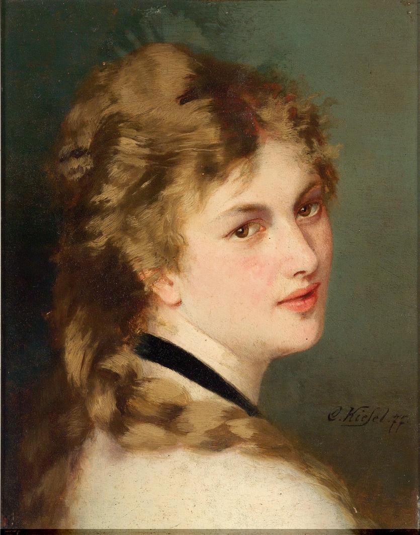 Conrad Kiesel (Düsseldorf 1846-1921 Berlin) Bildnis einer Dame mit schwarzem Halsband