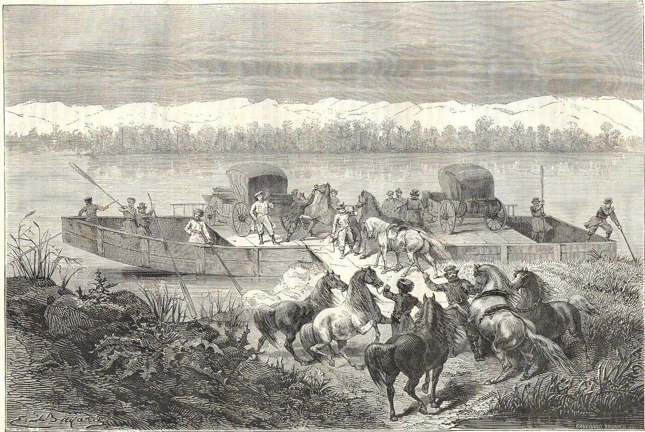 1865. Перевоз через Енисей