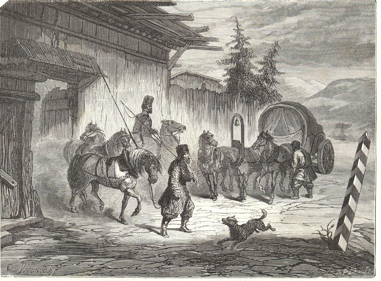 1865. Сибирь. Почтовая станция