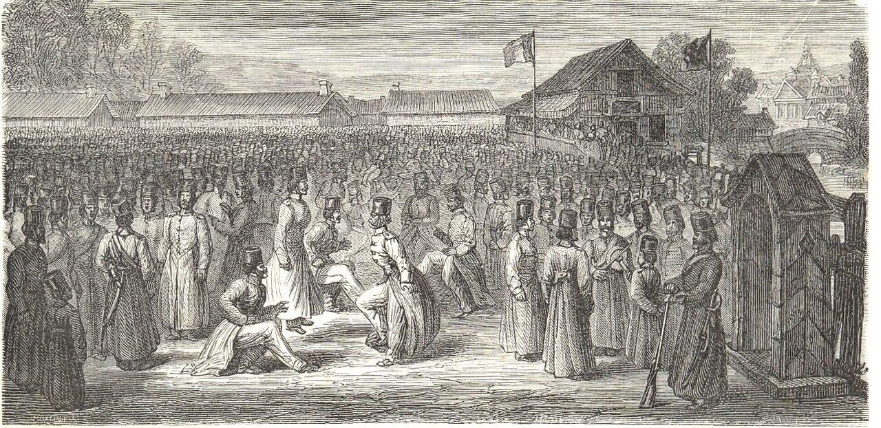 1865. Сибирь. Военный лагерь в Томске