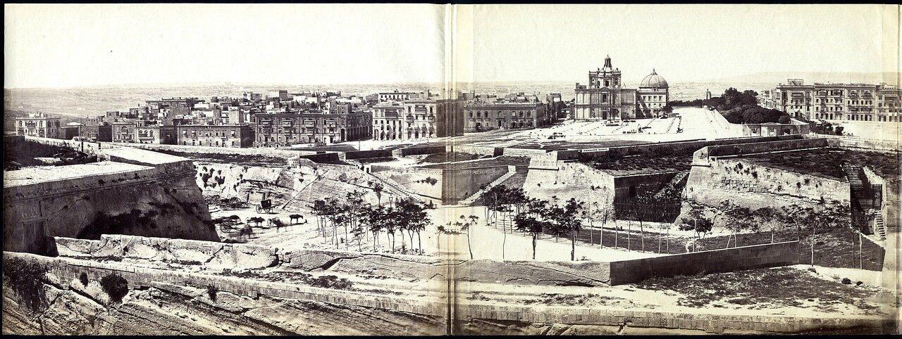 1860. Панорама Флориана, Мальта