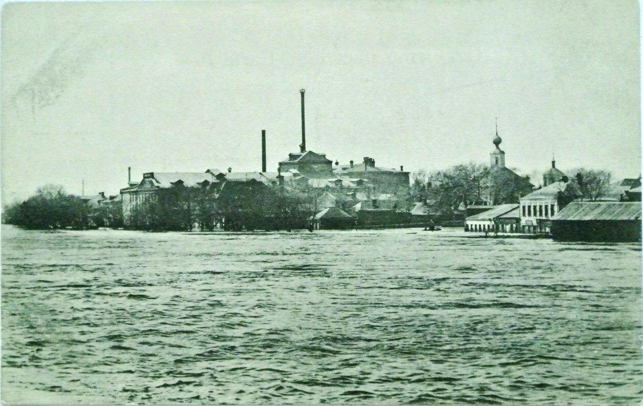 Наводнение в апреле 1908 года. Дорогомилово. Сахарный завод