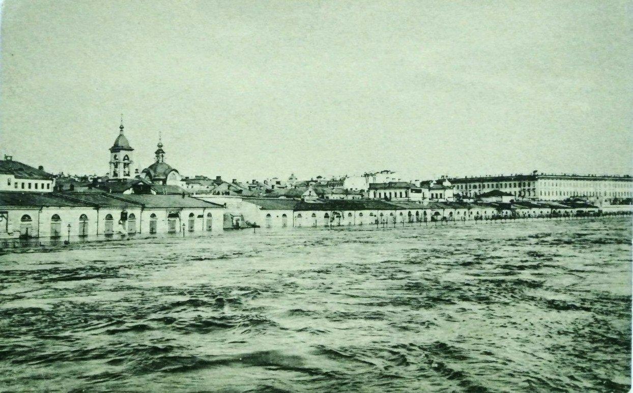 Наводнение в апреле 1908 года. Москворецкая набережная