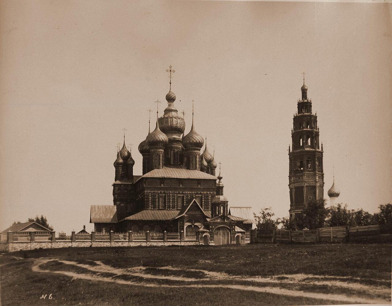 Вид северо-западного фасада церкви Иоанна Предтечи в Толчкове