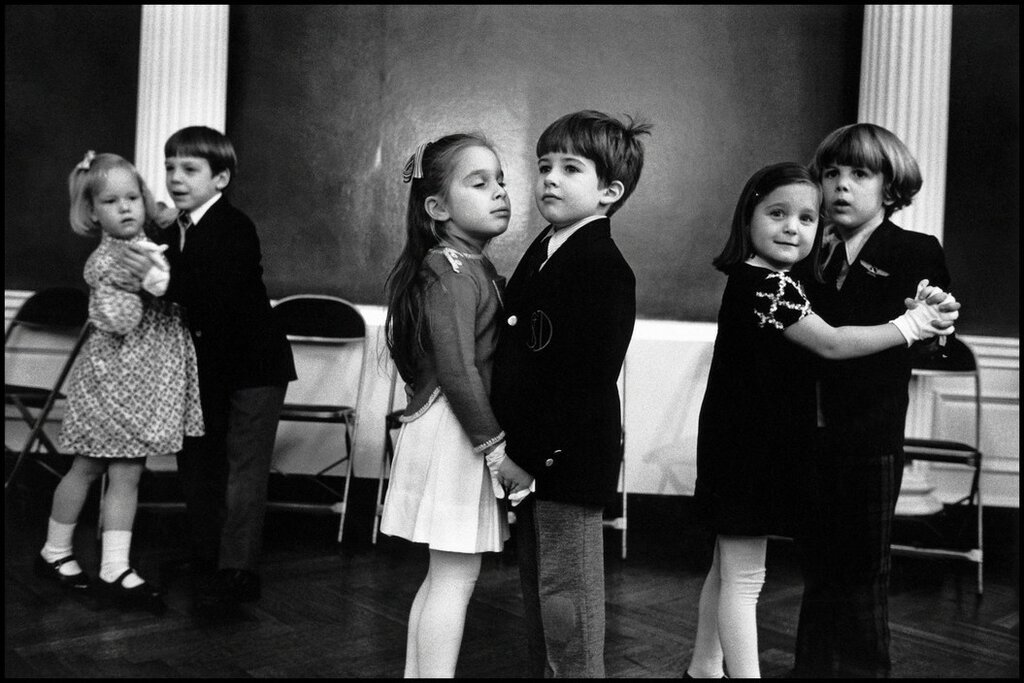 USA. New York. Dance School. 1977. The image is from part of a photo story about upper class children getting dancing lessons and being taught the social graces.jpg
