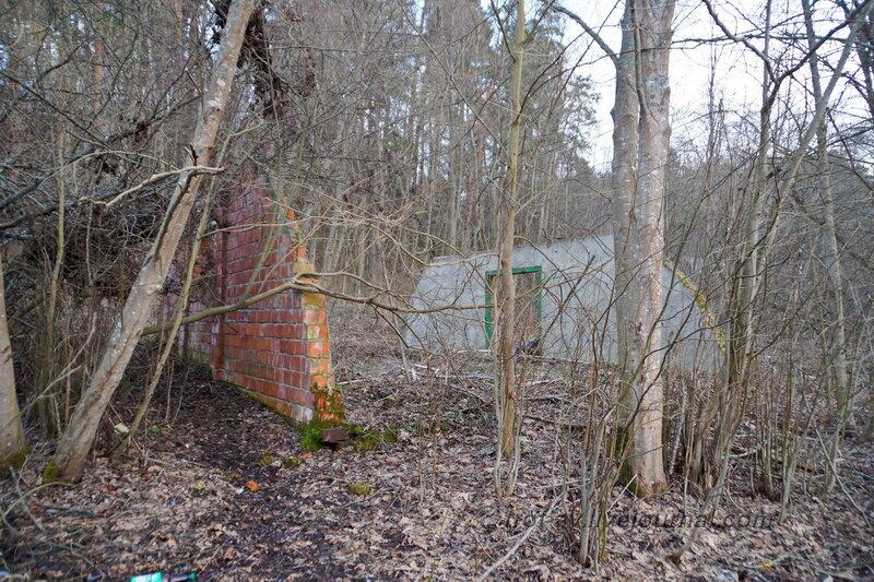 Развалины на берегу Москва-реки у санатория имени Герцена