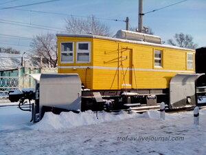 Снегоочиститель плуговой 2х путный системы ЦУМЗ, Музей РЖД, Москва
