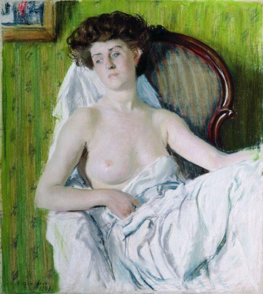 Портрет дамы. Модель. 1908.jpg