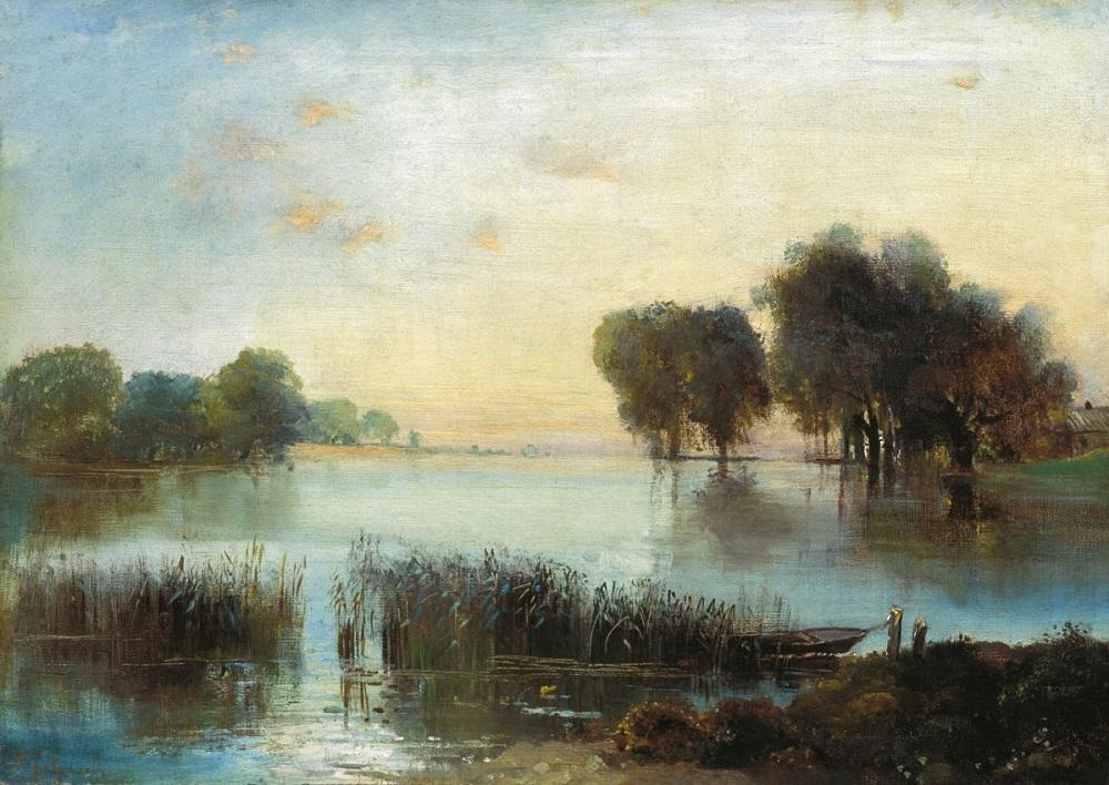 Пейзаж с рекой 1880-е холст масло 42.3 х 59.5 см Таганрогский художественный музей.jpg