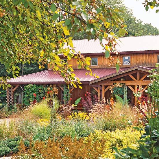 Ландшафт - Идеи оформления переднего дворика дома-Современный стиль