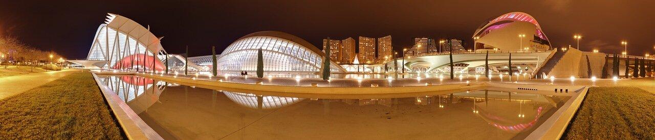 Валенсия, Valenciz. Город искусств и наук,  Ciudad de las Artes y las Ciencias, panorama