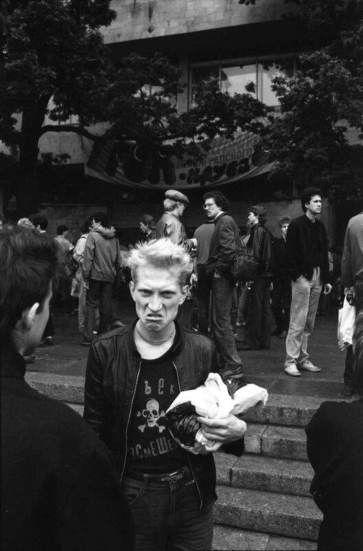 34. Е. Федоров (группа «Объект Насмешек»), Ленинград 1987