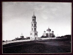 Вид на женский монастырь Иверской Божьей Матери.