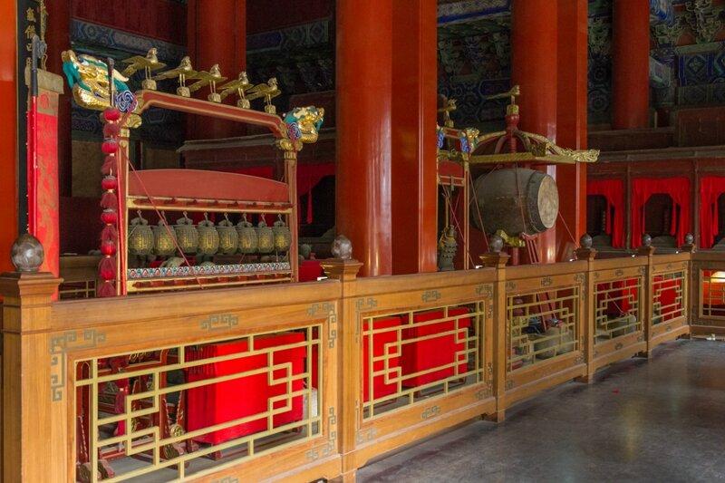 Бронзовые колокола и барабан, Храм Конфуция, Пекин