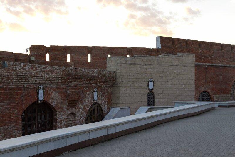 Западная стена Казанского кремля