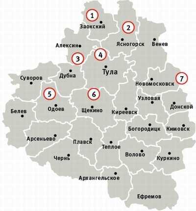 Аномальные зоны Тульской области