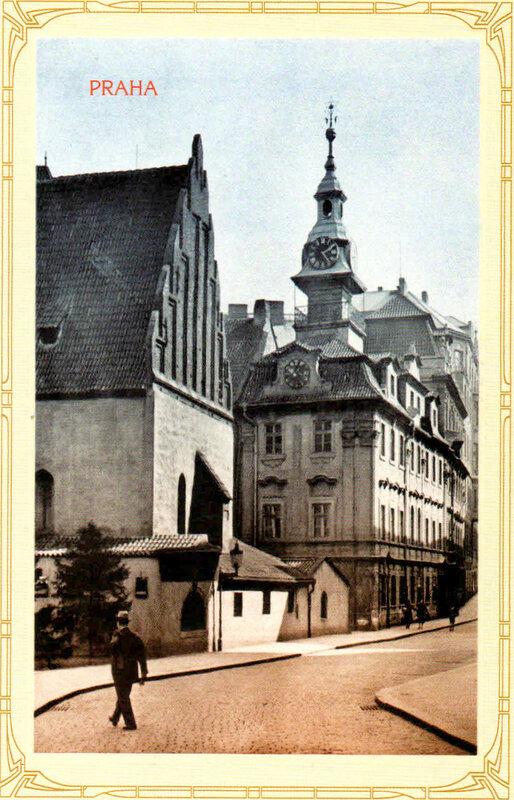 10. Старо-Новая синагога (слева) и иудейская ратуша (справа). 1928 год
