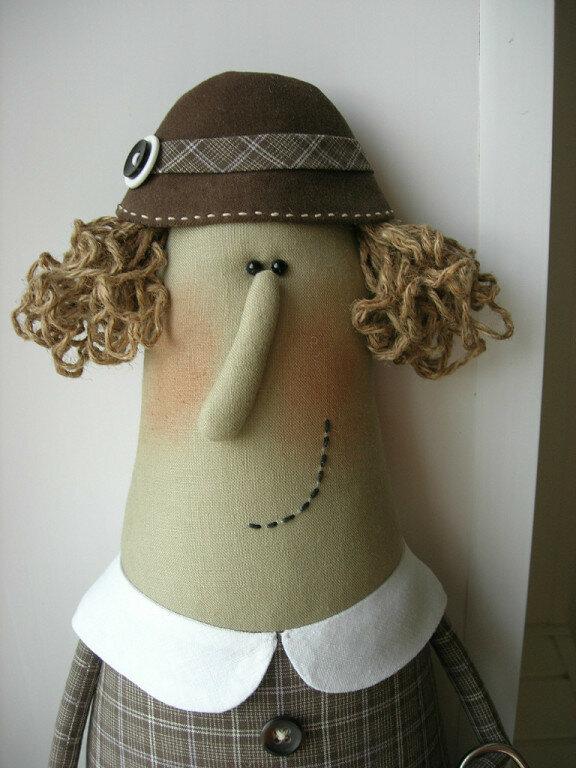 портрет куклы бабулька