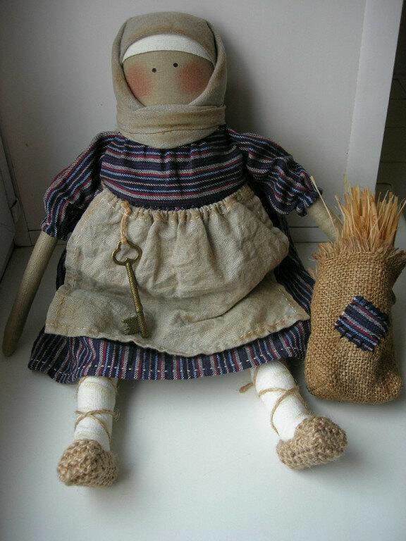 крестьянка кукла из ткани