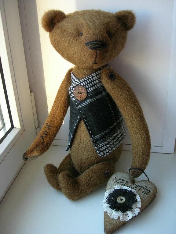 кукла бурого медведя их ткани