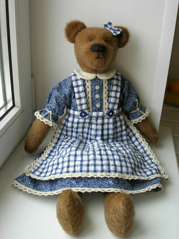 кукла медведица в платье своими руками