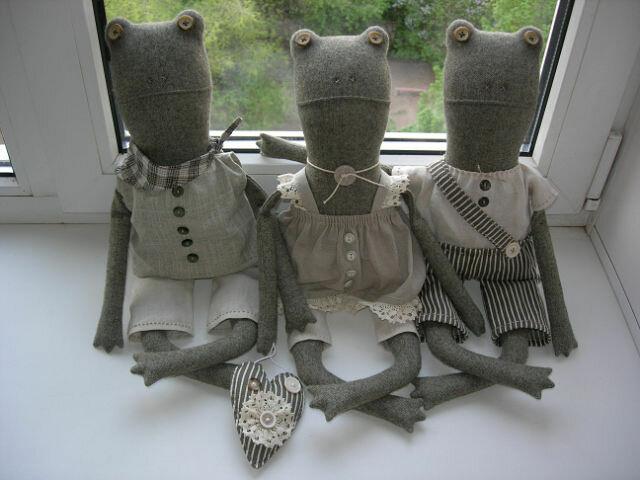 куклы из ткани три лягушонка ква ква