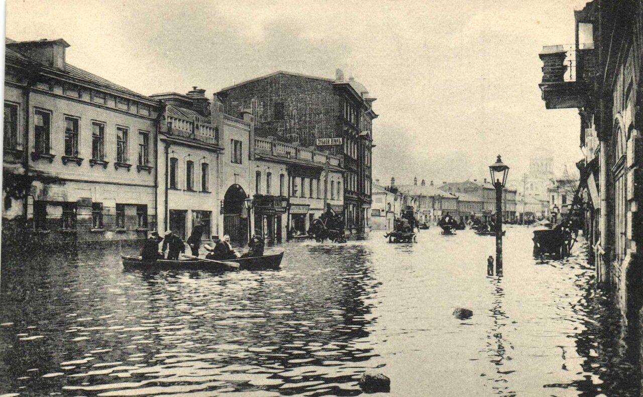 Наводнение в Москве 1908 года. Дорогомилово