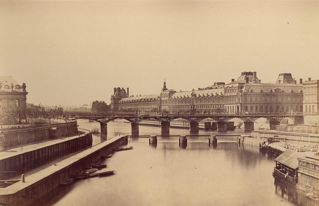 Париж. Общий вид города с Новым мостом. 1860