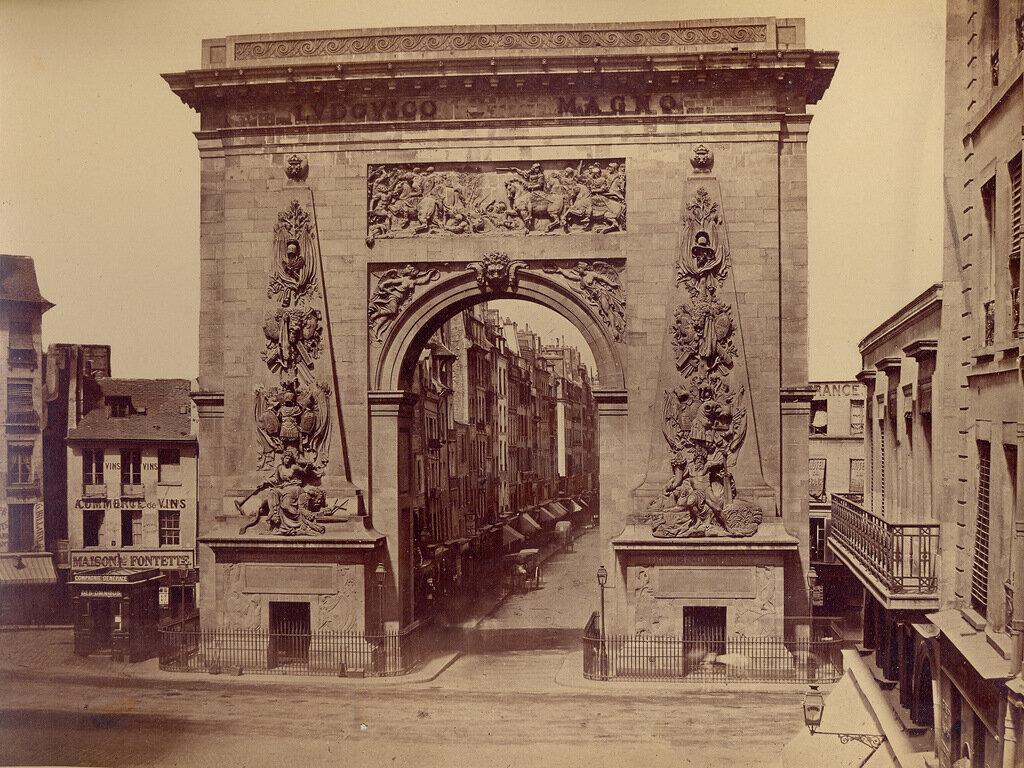 Париж. Ворота Сен-Дени. 1860