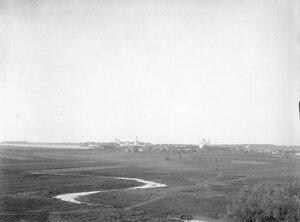 Вид от церкви Спаса Нередицы на Юрьев монастырь и Городище
