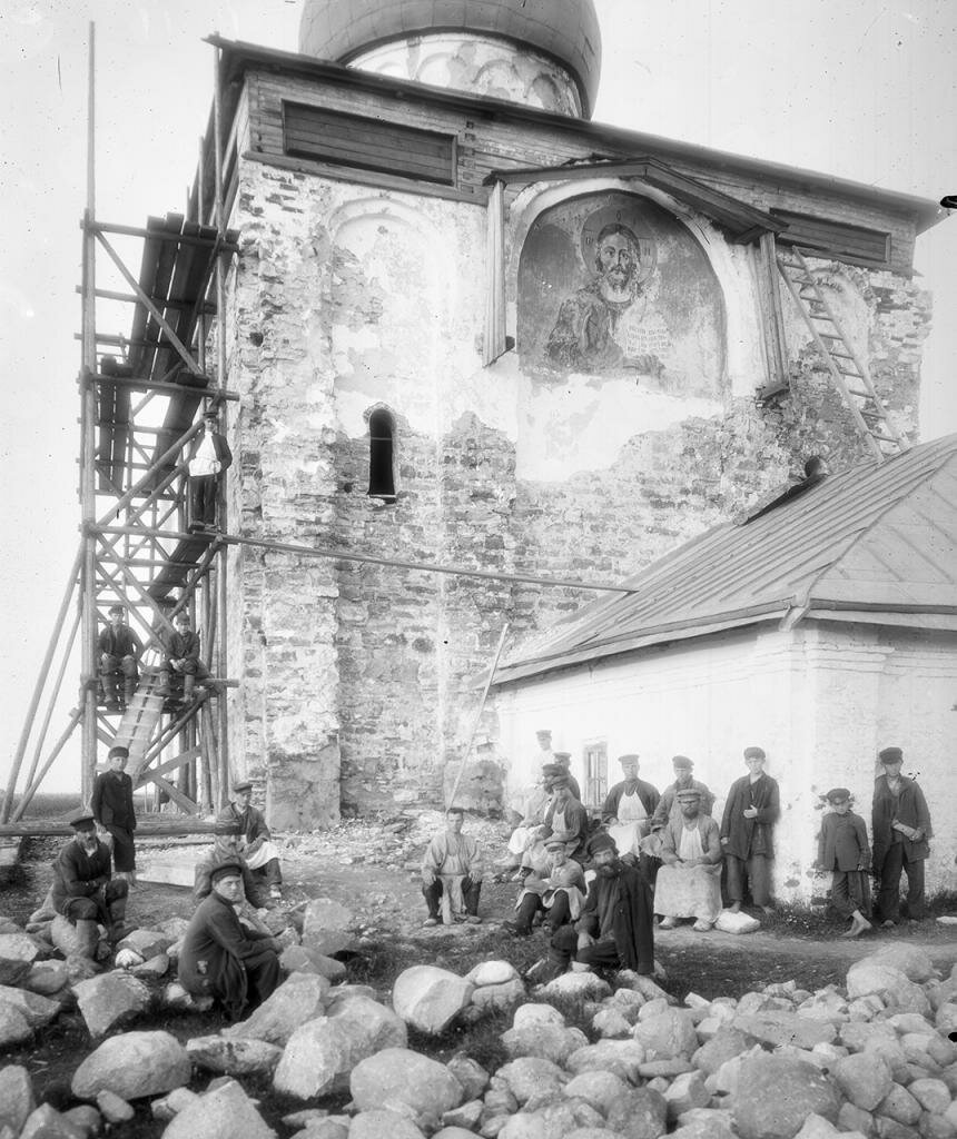 Церковь Спаса на Нередице. Реставрационные работы 1903.