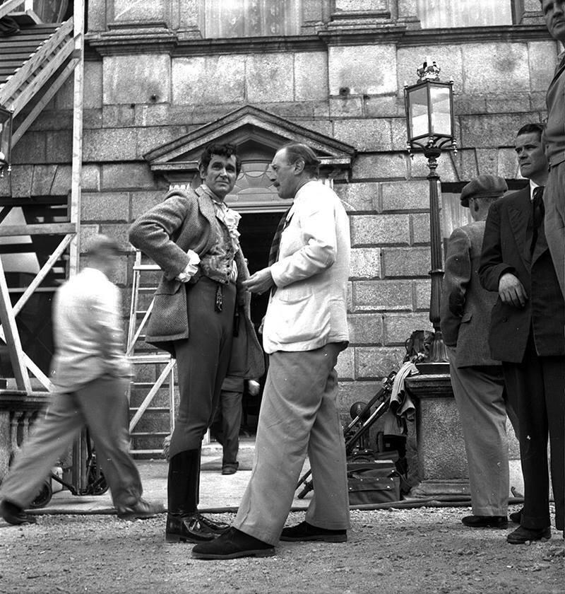 1956. Рок Хадсон на съемках  «Капитана Лайтфут» в Ирландии