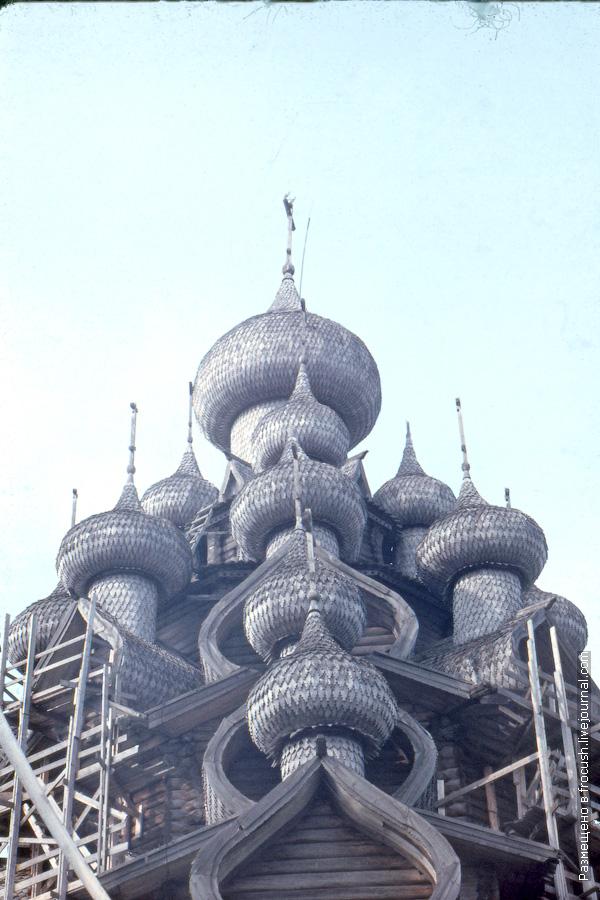 Остров Кижи. Спасо-Кижский погост. Церковь Преображения Господня 1985 год