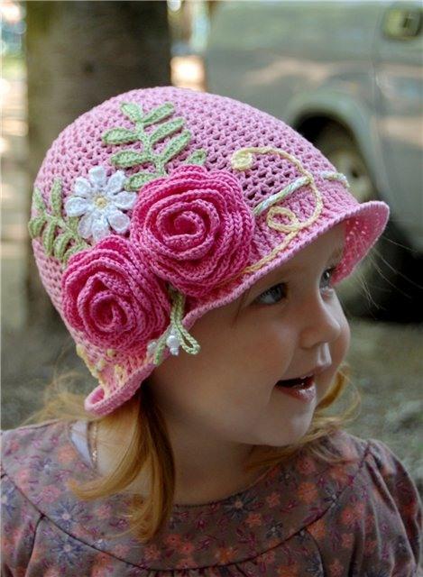 Вязание летние шляпки для девочек 176