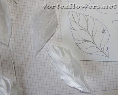 Гардения из ткани. Как собрать цветок из ткани.