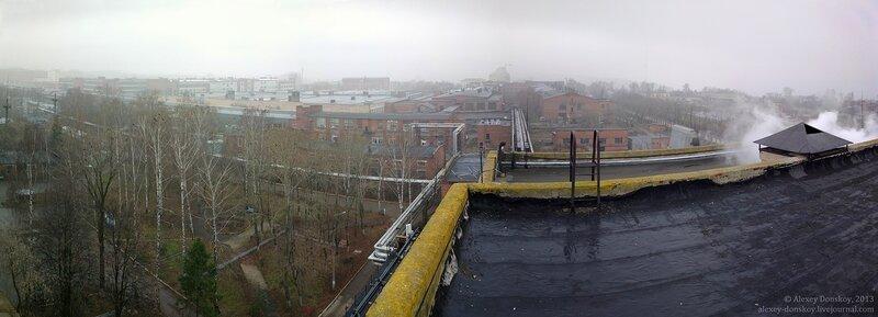 Вид с крыши ТЭЦ-1 на запад