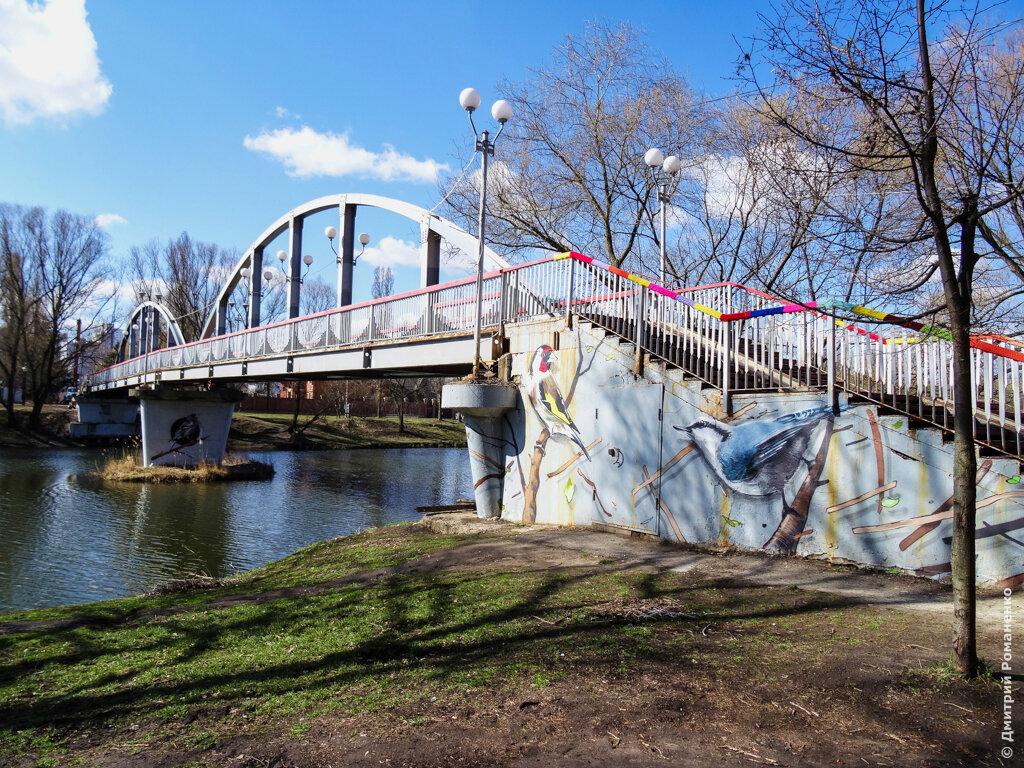 граффити, мост, везёлка, птички