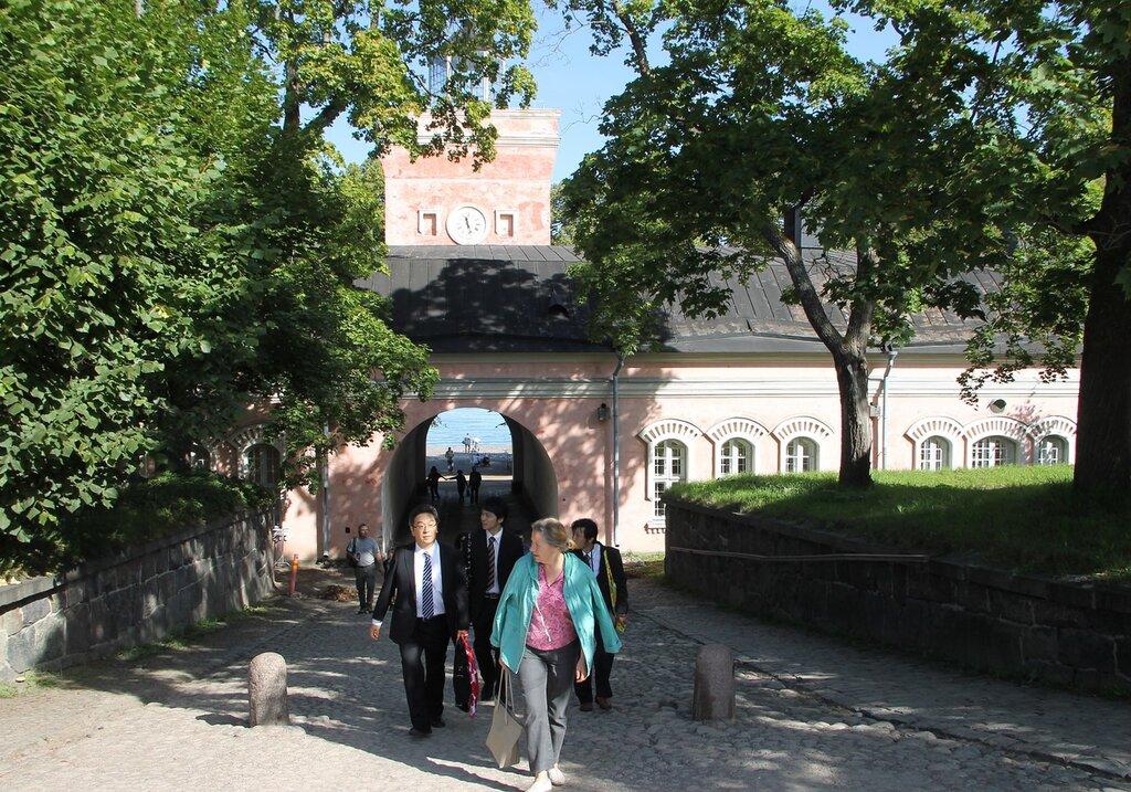 Helsinki, the Suomenlinna fortress, the Main gate