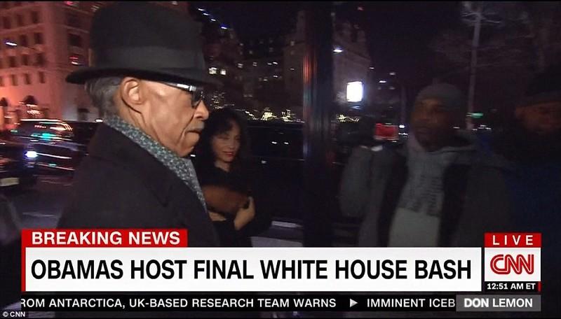 Среди тех, кто присутствовал на заключительной вечеринке в Белом доме, никто не высказывался о Трамп