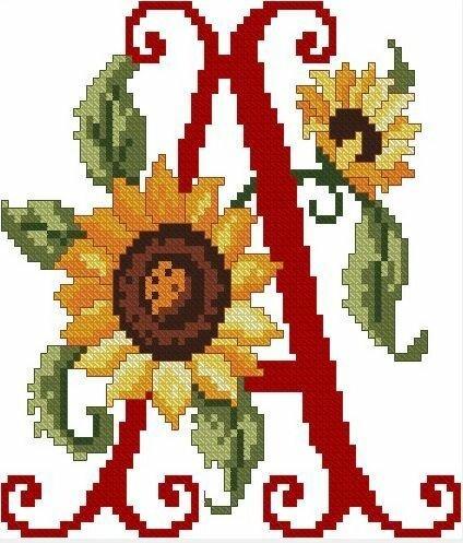 Схемы для вышивания крестом - подсолнухи