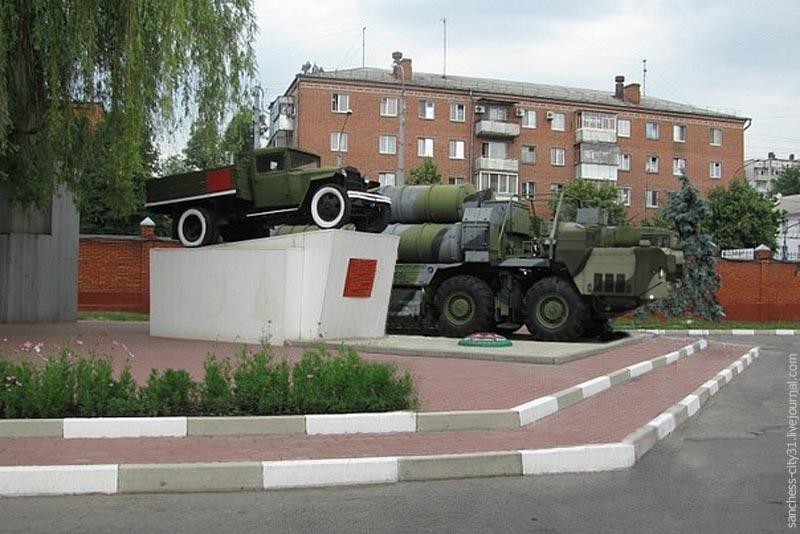 Памятник-автомобиль ГАЗ-АА, Белгород, В/Ч, фото из личной коллекции