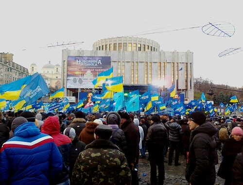 Митинг Партии Регионов под Украинском домом