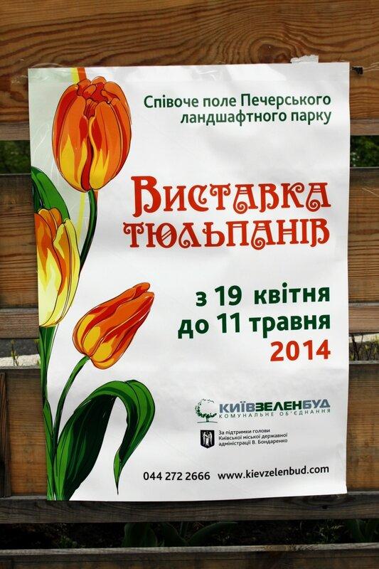 Афиша выставки тюльпанов