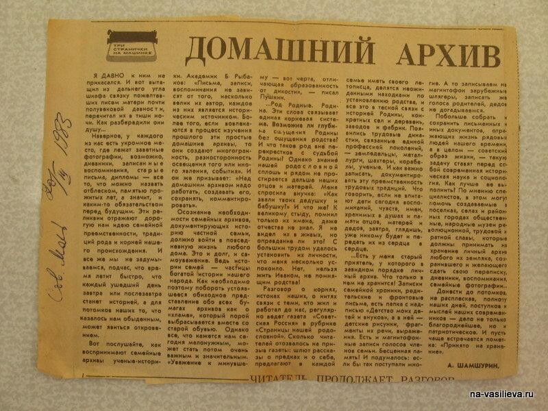 Статья Шамшурина