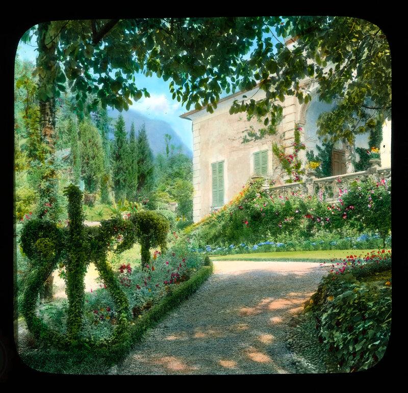 Lake Como. Villa Balbianello: garden view