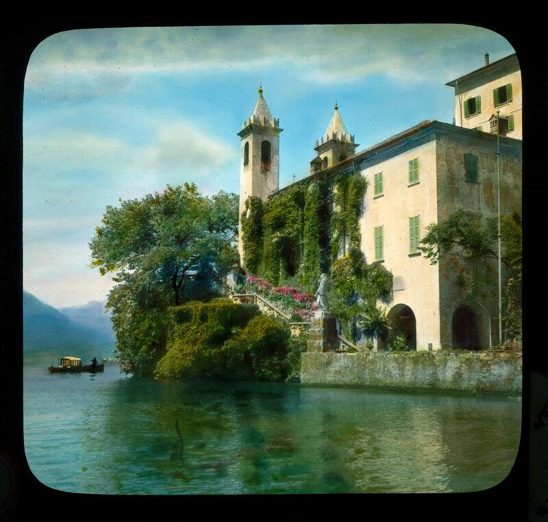 Lake Como. Villa Balbianello: view from the lake