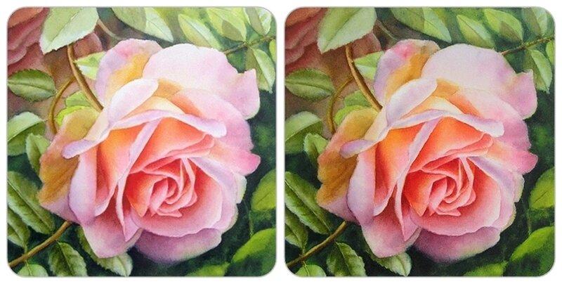 Как нарисовать акварелью розу в лучах солнца - Рисование - Р…